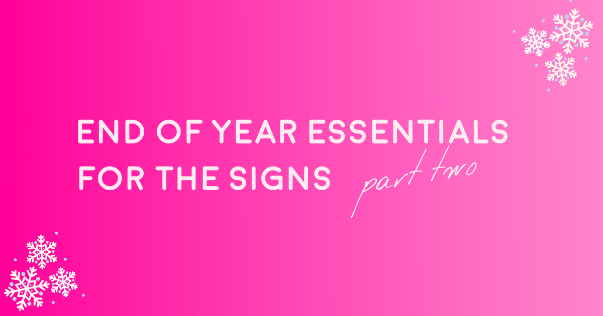 End of Year Essentials for the Signs (Part Two) – THE YESSTYLIST - Asian Fashion Blog
