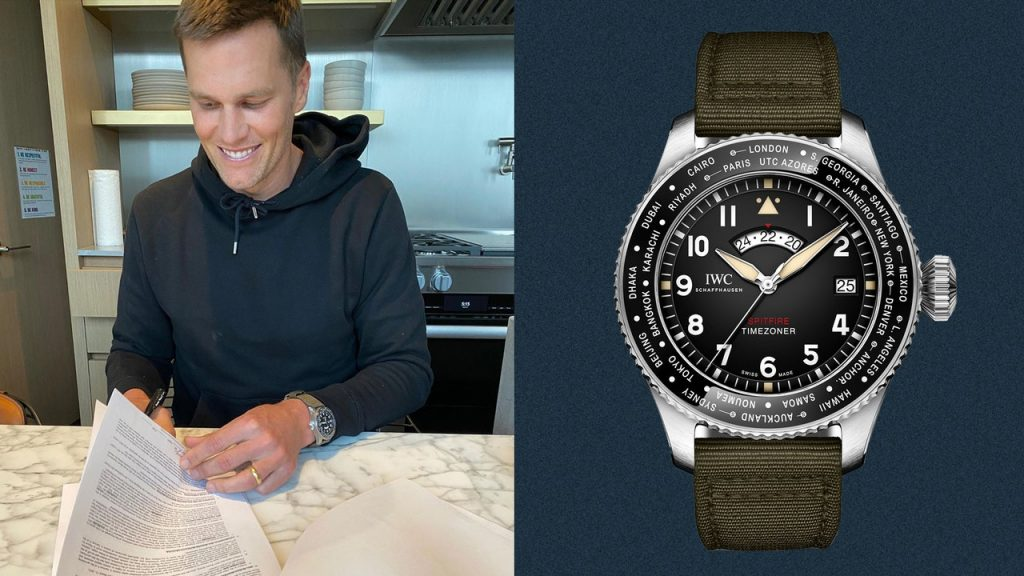 Tom Brady Signed His New Bucs Contract While Wearing an Equally New Watch