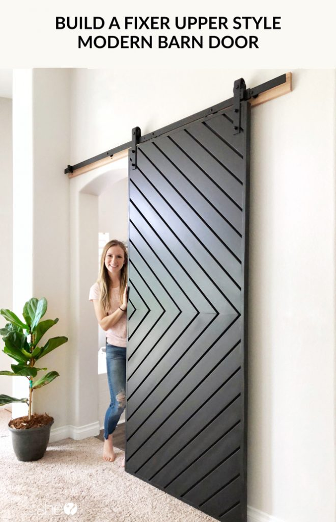 Build a Fixer Upper Style MODERN Barn Door