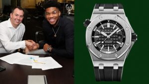 Giannis Antetokounmpo Wore a Freakishly Good Watch to Sign His Record-Setting Contract
