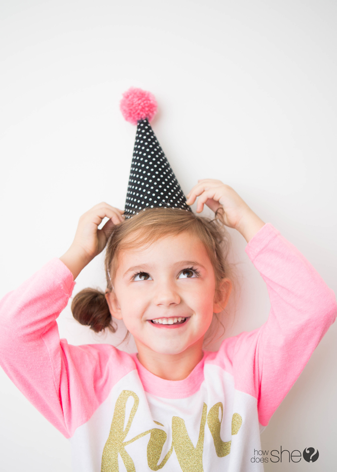 Kid's Party Hat – Pom Pom Style