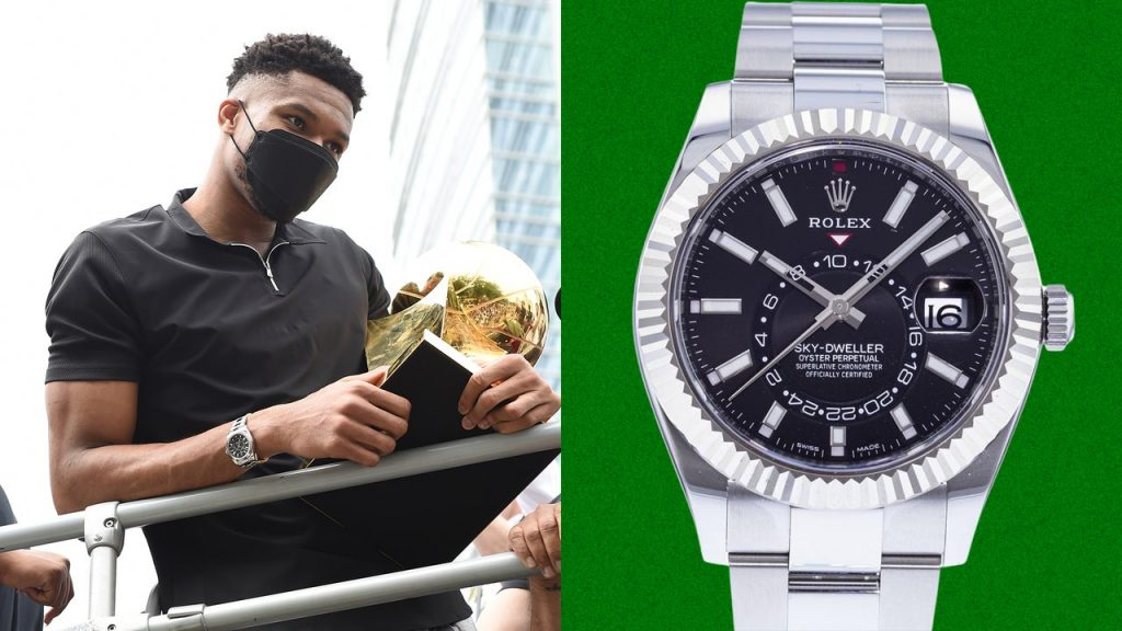 Giannis Antetokounmpo Got a New Watch to Go With His Finals MVP Trophy